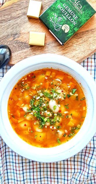 supa de legume cu turmeric