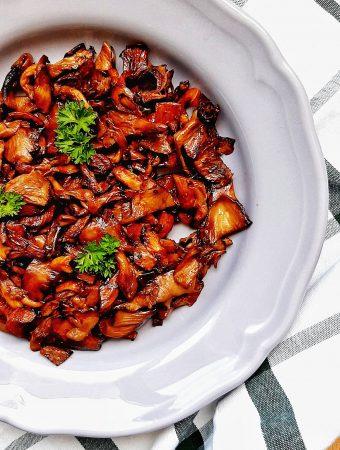 ciuperci pleurotus cu sos de soia