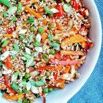 orez cu legume la tigaie