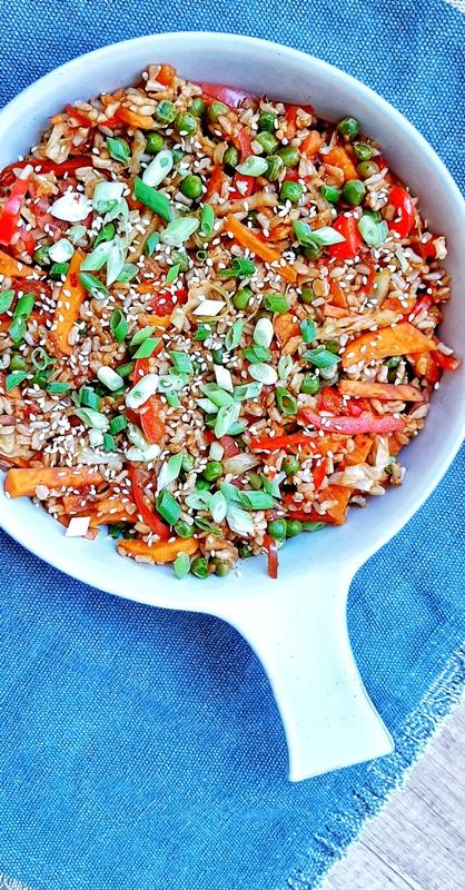 Orez cu legume stir fry